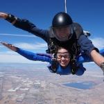 girl tandem skydiving Los Angeles