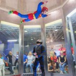 Indoor skydiving in the wind tunnel