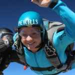 women makes aff skydive at skydive perris