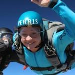 women makes aff skydive at skydive perris