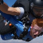 man crosses skydiving off his bucket list