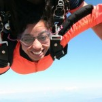 women tandem skydiving near los angeles