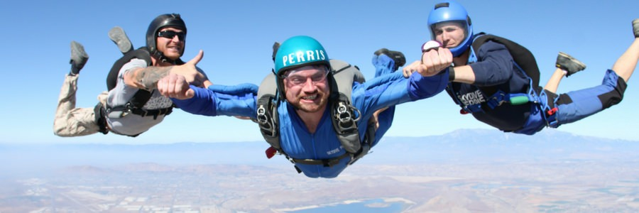 aff course student flies with instructors