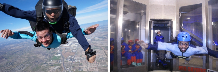 Differences of Skydiving vs Indoor Skydiving | Skydive Perris