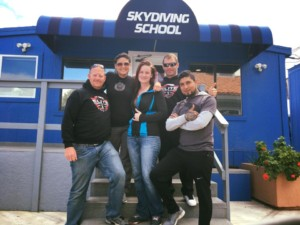 angie and fellow instructors at Perris skydiving school