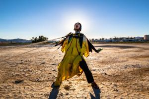 wakita nozomu after first wingsuit jump