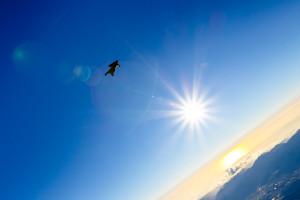 wakita nozomu wingsuit jump freefall shot