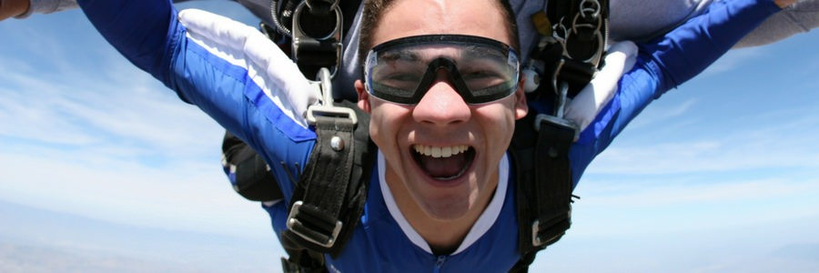 first time skydiving experience at Perris