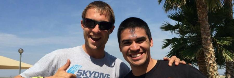 man becomes certified skydiver at Skydive Perris