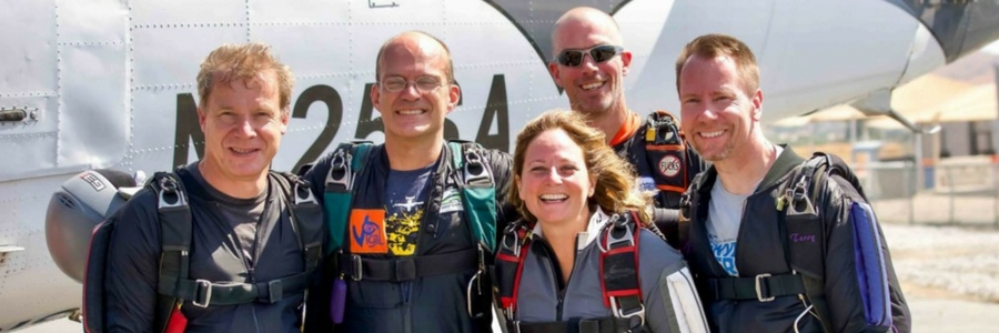 photo of skydiving team, Event Horizon