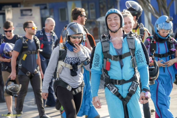 newly licensed skydiver with Perris skydiving community