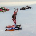 experienced skydivers make xrw skydive at perris