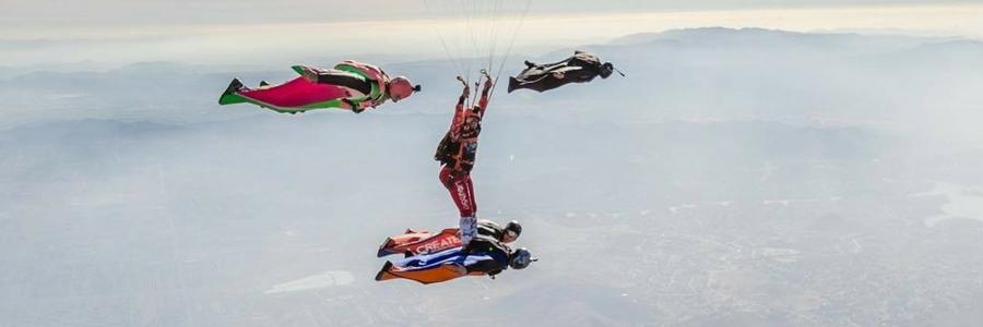 experienced skydivers make xrw skydive at perris