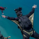craig o'brien captures experienced skydivers in formation