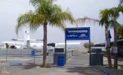 photo of entrance to skydiving school at Perris