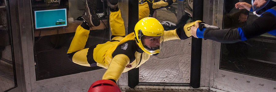 Take your skydiving skills to the next level in the wind tunnel